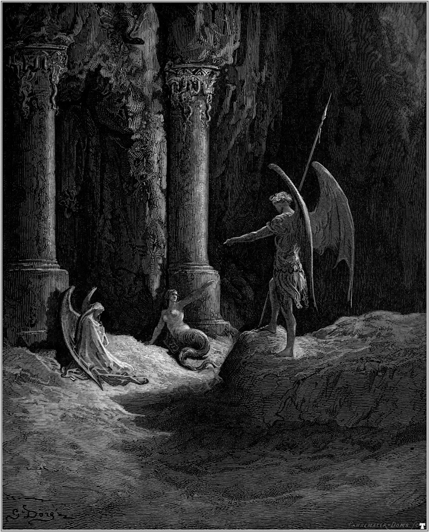 Satan Sin And Death Paradise Lost Book: Paul Gustave Doré Christian Imagery