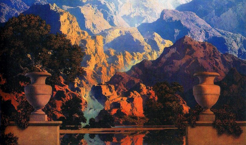 Maxfield Parrish The Doctrine Of Divine Light Dop